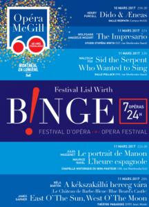 Opéra McGill- Binge 2017